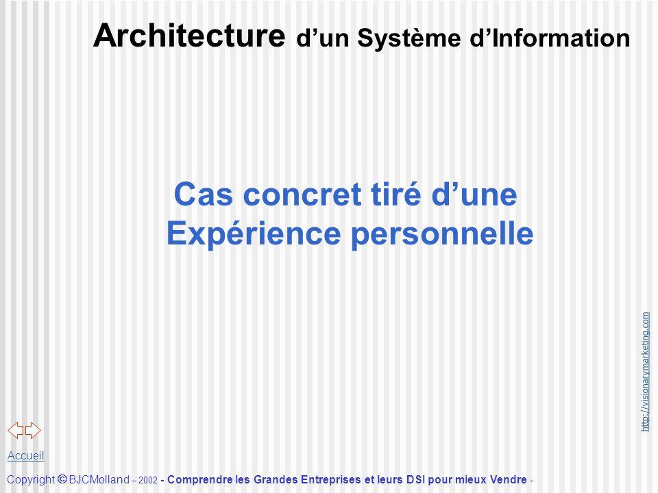 http://visionarymarketing.com Copyright BJCMolland – 2002 - Comprendre les Grandes Entreprises et leurs DSI pour mieux Vendre - Accueil Architecture d