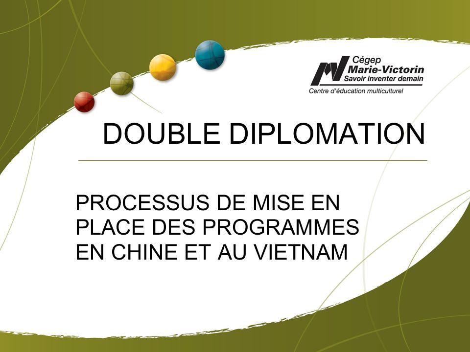 DOUBLE DIPLOMATION PROCESSUS DE MISE EN PLACE DES PROGRAMMES EN CHINE ET AU VIETNAM