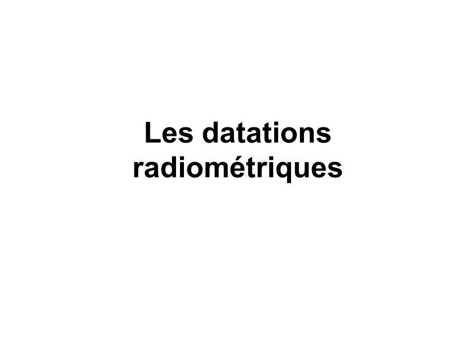 Il fallut attendre la découverte de la radioactivité par Marie et Pierre Curie, au début du 20e siècle, pour avoir enfin cet outil qui permit de se faire une idée réaliste du temps géologique, c est-à-dire obtenir des âges géologiques absolus, et de déterminer l âge vénérable de notre planète.