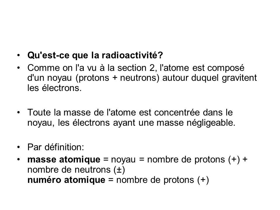 Qu est-ce que la radioactivité.