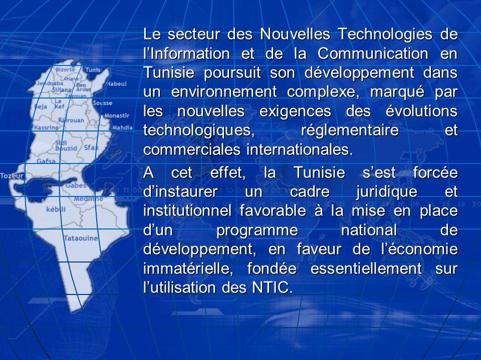 Le secteur des Nouvelles Technologies de lInformation et de la Communication en Tunisie poursuit son développement dans un environnement complexe, mar
