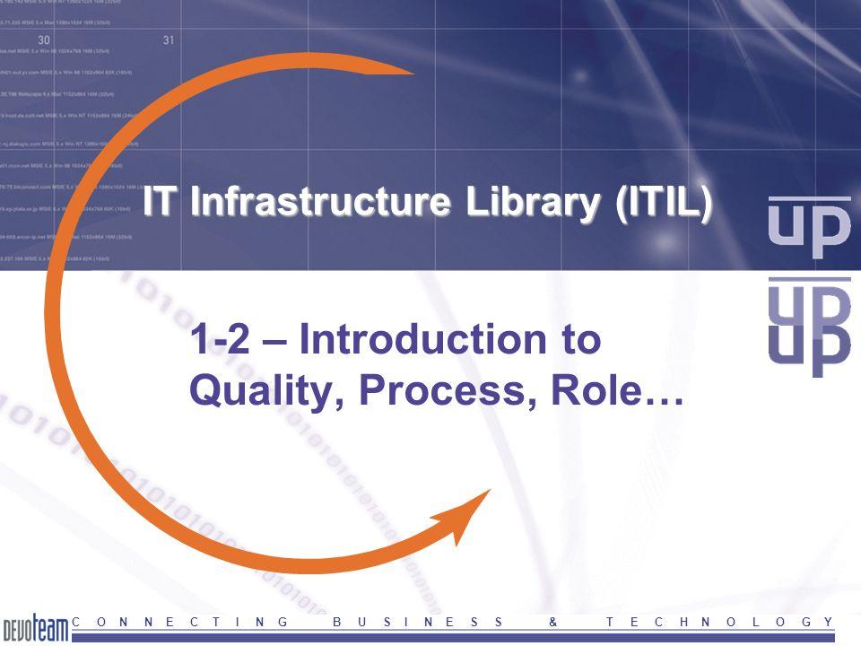 27 Version 2004ITIL-Part1-Introduction C O N N E C T I N G B U S I N E S S & T E C H N O L O G Y Service delivery process model