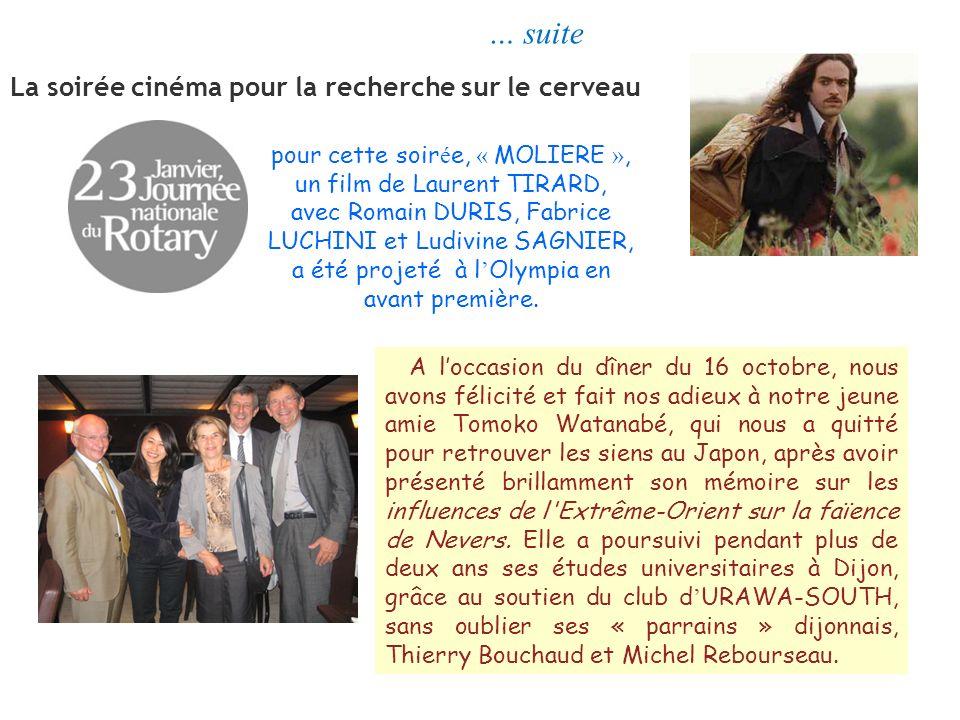 … suite La soirée cinéma pour la recherche sur le cerveau pour cette soir é e, « MOLIERE », un film de Laurent TIRARD, avec Romain DURIS, Fabrice LUCHINI et Ludivine SAGNIER, a été projeté à l Olympia en avant première.