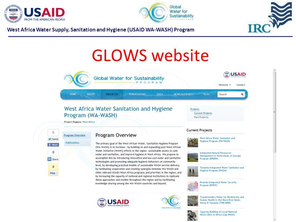 GLOWS website West Africa Water Supply, Sanitation and Hygiene (USAID WA-WASH) Program
