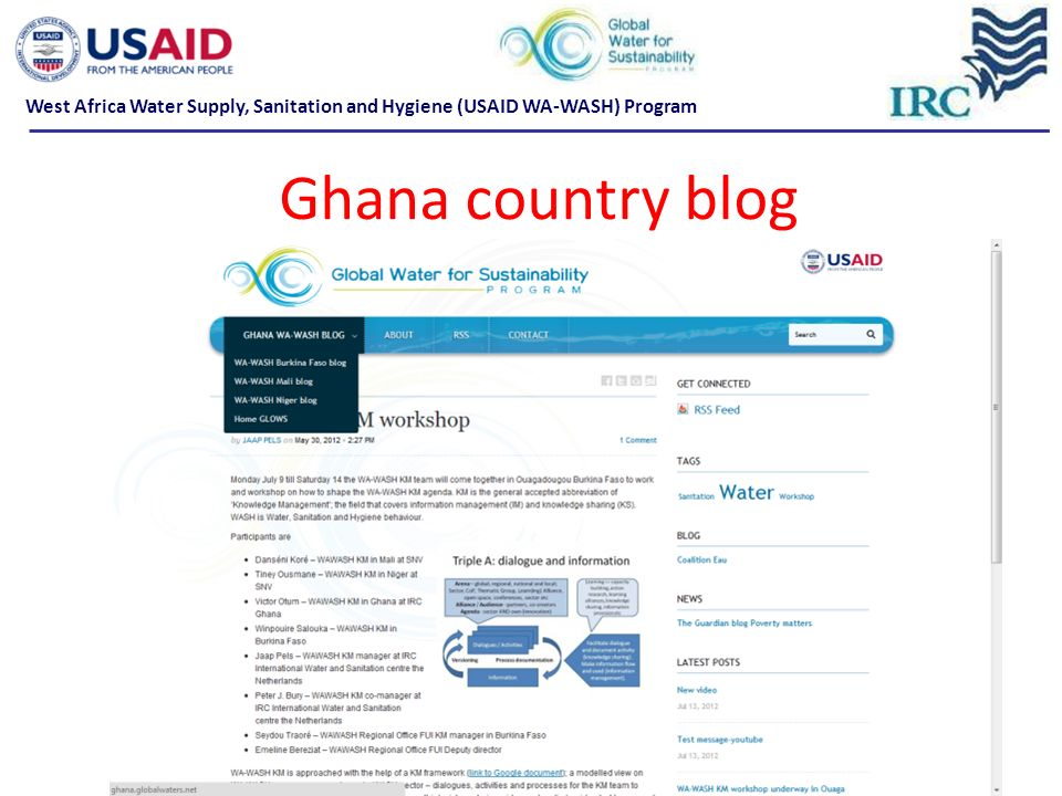 Ghana country blog West Africa Water Supply, Sanitation and Hygiene (USAID WA-WASH) Program