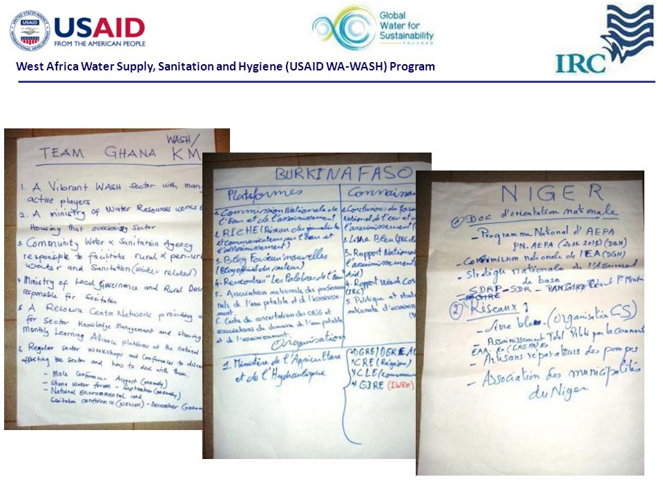 Update on Knowledge Management What is expected of WA-WASH partners for KM West Africa Water Supply, Sanitation and Hygiene (USAID WA-WASH) Program
