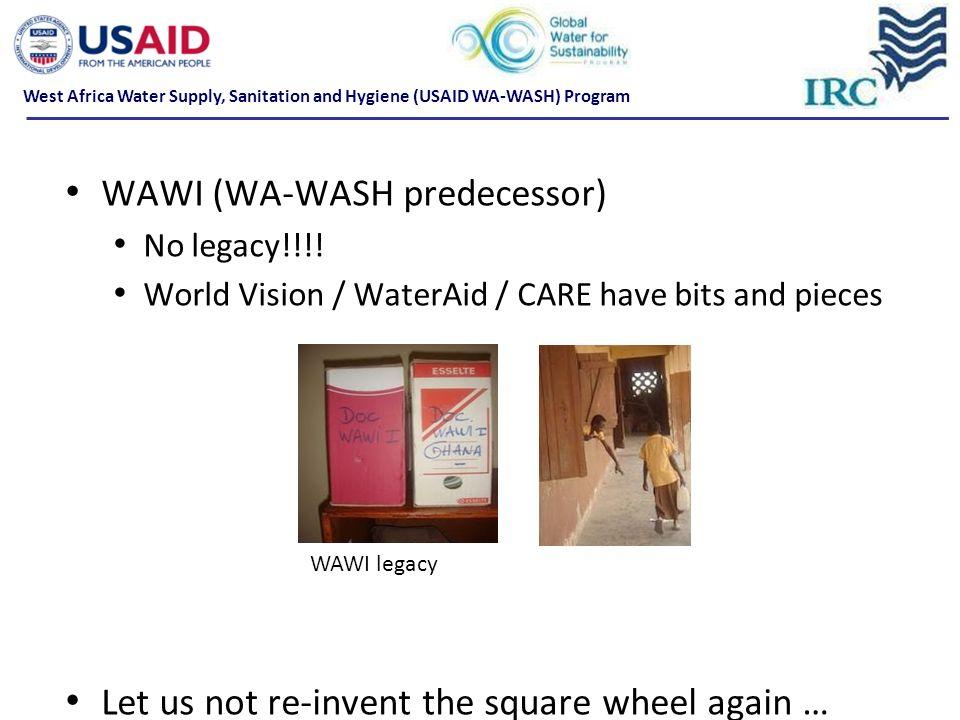 WAWI (WA-WASH predecessor) No legacy!!!.