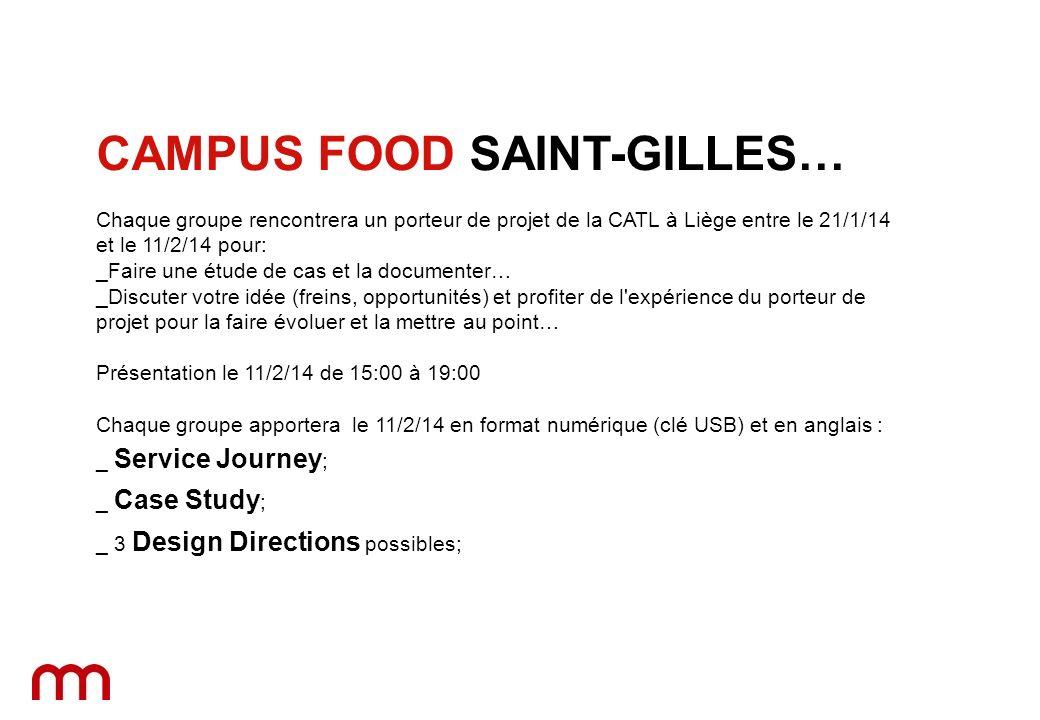 Chaque groupe rencontrera un porteur de projet de la CATL à Liège entre le 21/1/14 et le 11/2/14 pour: _Faire une étude de cas et la documenter… _Disc