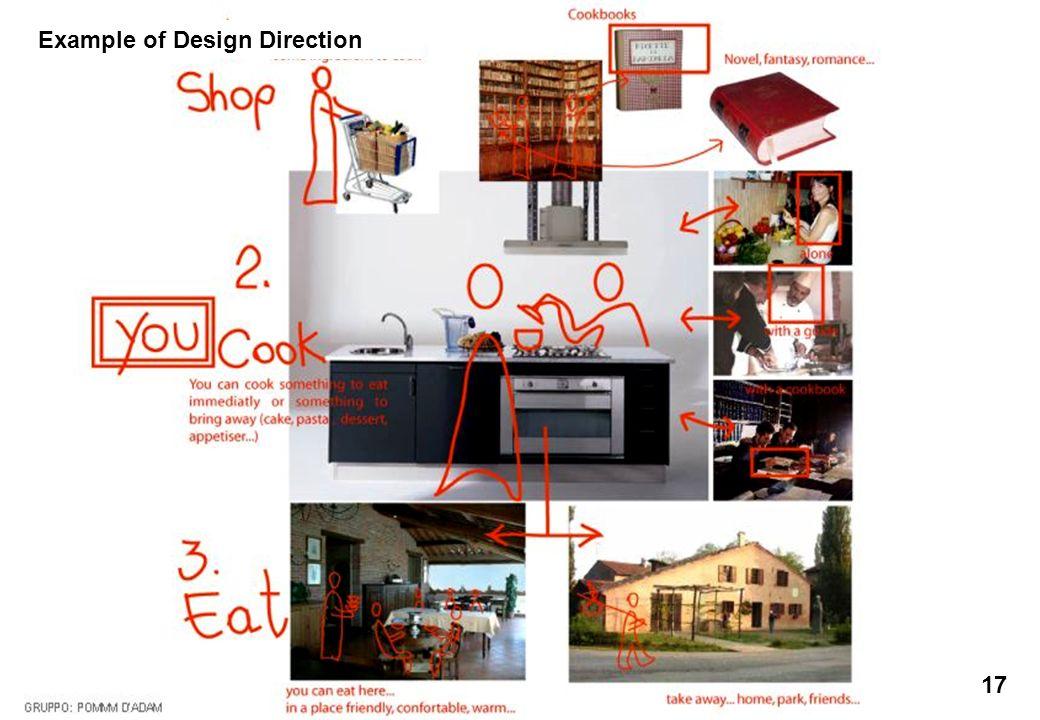 Ecole des Arts Visuels de La Cambre / cours Éco-conception & Développement Durable / François Jégou 17 Example of Design Direction