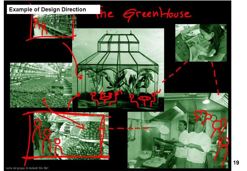 Ecole des Arts Visuels de La Cambre / cours Éco-conception & Développement Durable / François Jégou 19 Example of Design Direction