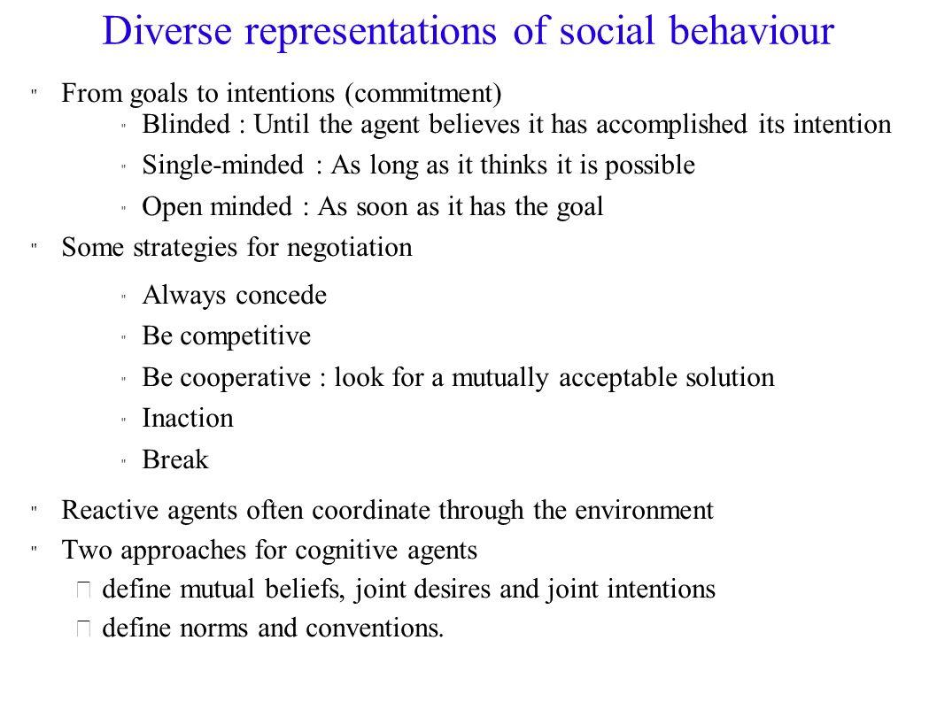 Diverse representations of social behaviour