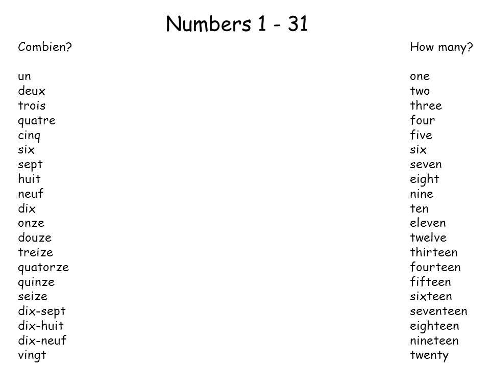 Lotto! Dessinez six cases 41 34 44 36 32 38 Choisissez et écrivez six numéros entre 31-45.