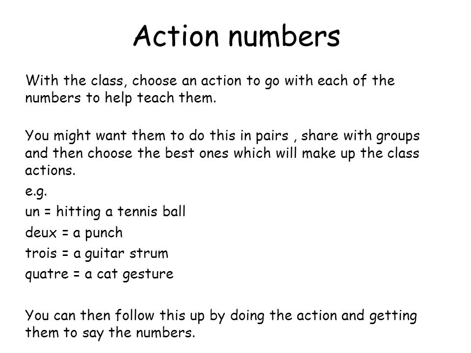 Round class counting 1.Give everyone in the class a number from 1 – 31 (or however high you are counting to at the time). You can double up numbers if