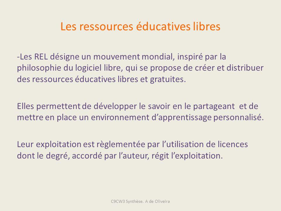 Les ressources éducatives libres -Les REL désigne un mouvement mondial, inspiré par la philosophie du logiciel libre, qui se propose de créer et distr