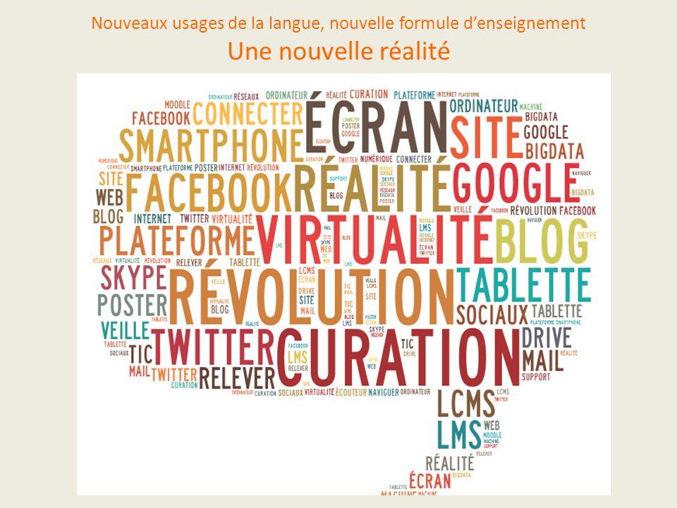 Nouveaux usages de la langue, nouvelle formule denseignement Une nouvelle réalité en marche C9CW3 Synthèse. A de Oliveira