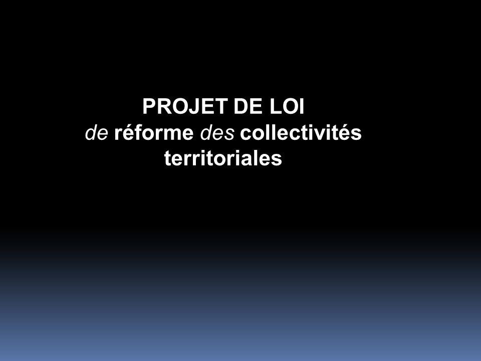 -la couverture intercommunale intégrale du territoire français à l horizon du début de l année 2014 - la rationalisation des périmètres des structures intercommunales à la même échéance - l approfondissement de l intercommunalité à travers la rénovation de son cadre juridique.