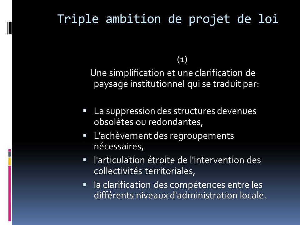 (2) Ladaptation de l organisation territoriale aux défis actuels.