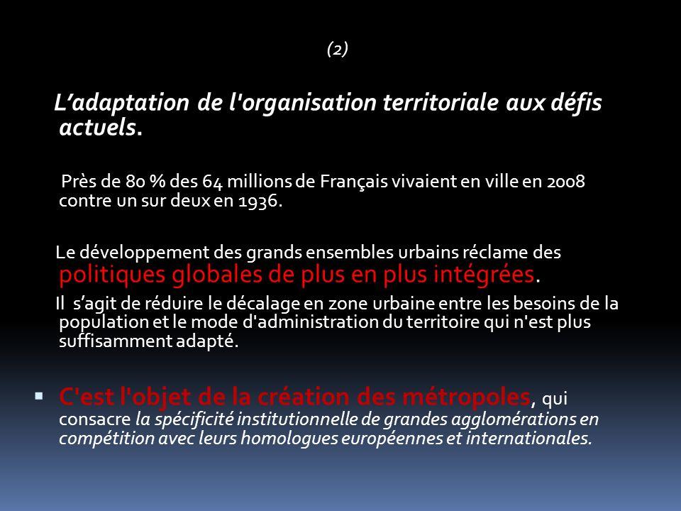 Titre II.– Adaptation des structures à la diversité des territoires Chapitre I ER.