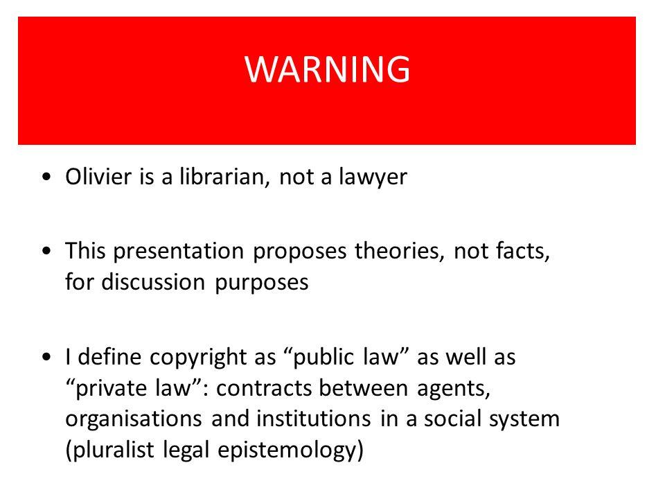 Outline (1)A few details about copyright (2)Recent developments (3)The main idea