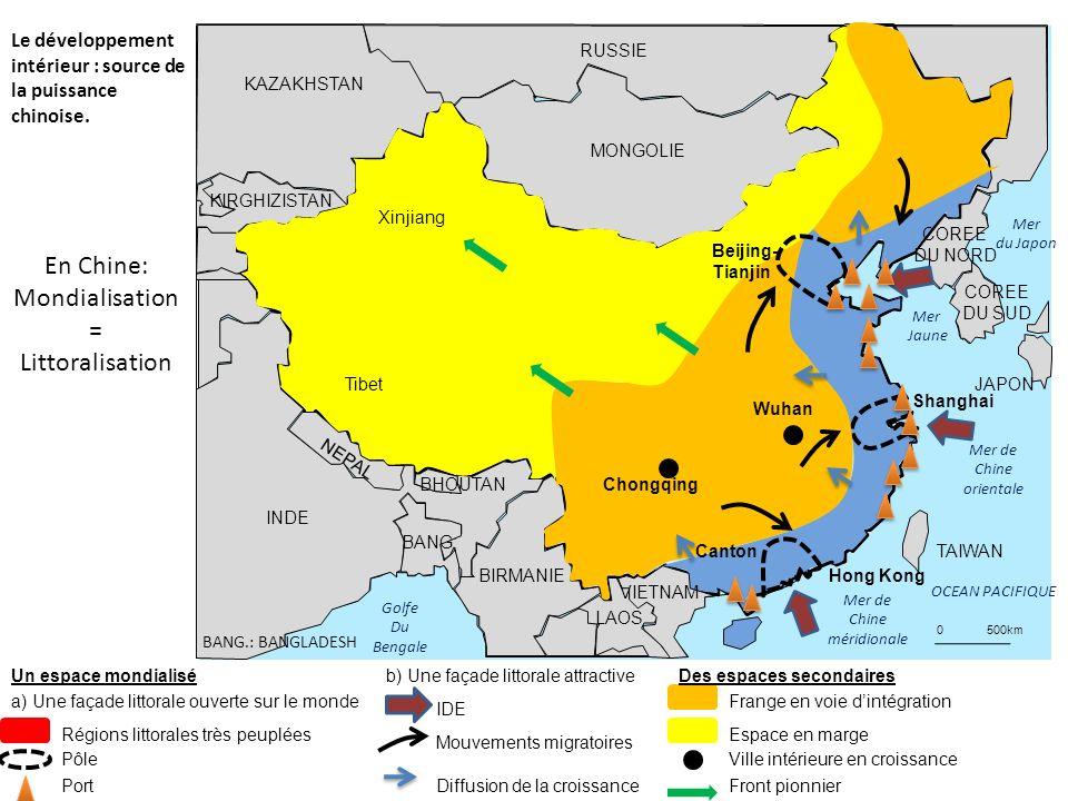 Golfe Du Bengale Mer de Chine méridionale Mer de Chine orientale OCEAN PACIFIQUE MONGOLIE RUSSIE Mer Jaune Mer du Japon KAZAKHSTAN KIRGHIZISTAN INDE B