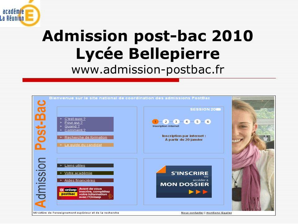 SAIO / novembre 2009 Admission post-bac 2010 Lycée Bellepierre www.admission-postbac.fr