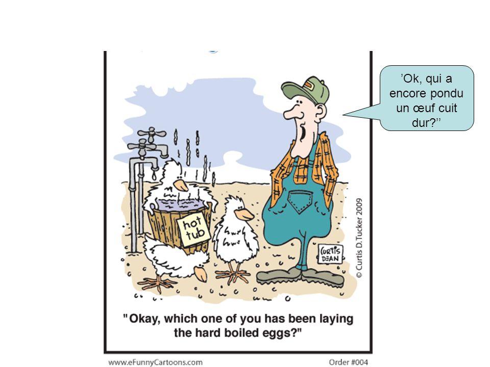 Ok, qui a encore pondu un œuf cuit dur?