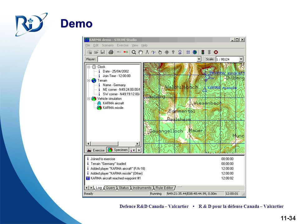 Defence R&D Canada – Valcartier R & D pour la défense Canada – Valcartier Demo 11-34