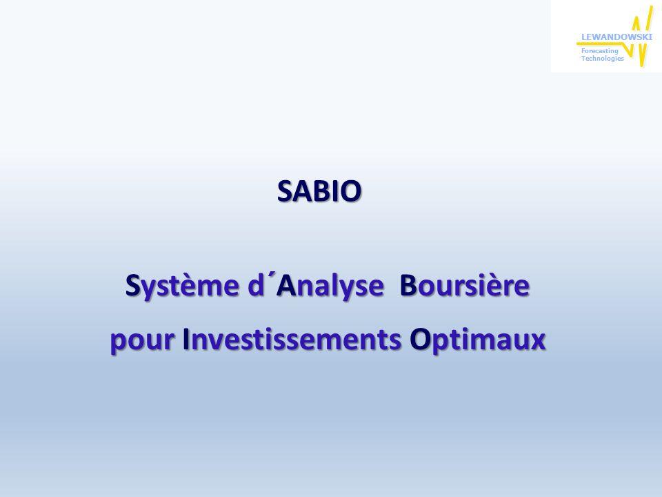 Conclusions sur les résultats obtenus avec SABIO 2