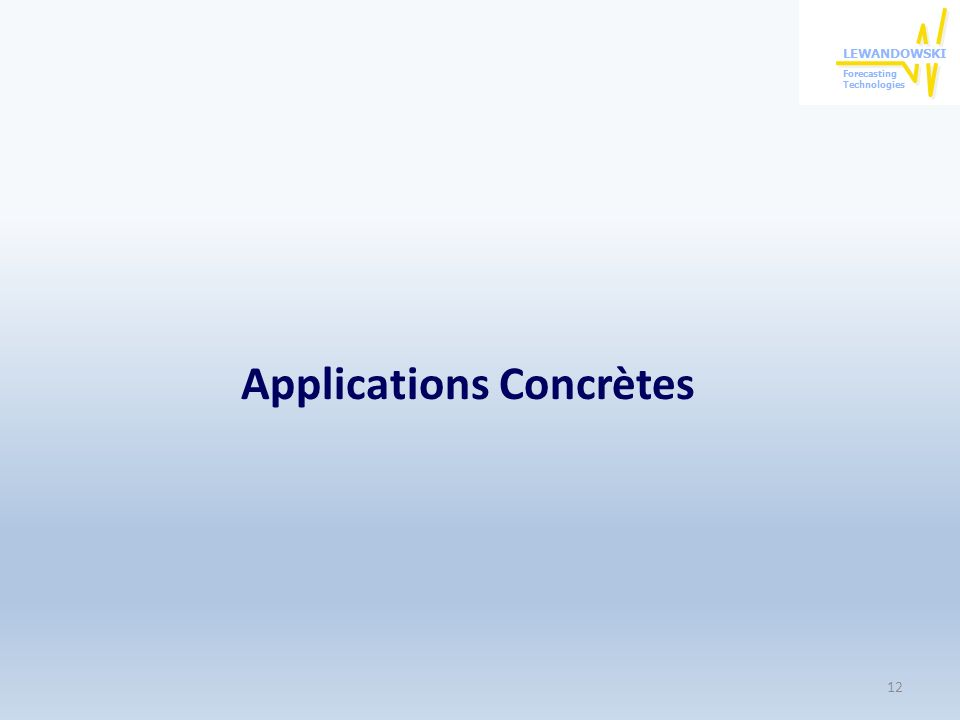 Applications Concrètes 12