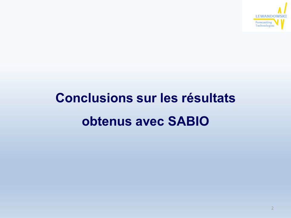 La contribution de SABIO a lexcellence dans la gestion des avoirs bousiers SABIO est un système de trading automatique de tout premier plan aussi bien scientifique qu opérationnel.