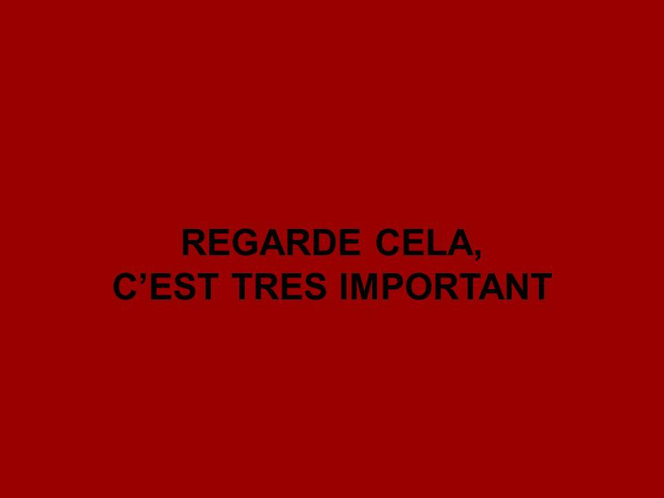 REGARDE CELA, CEST TRES IMPORTANT
