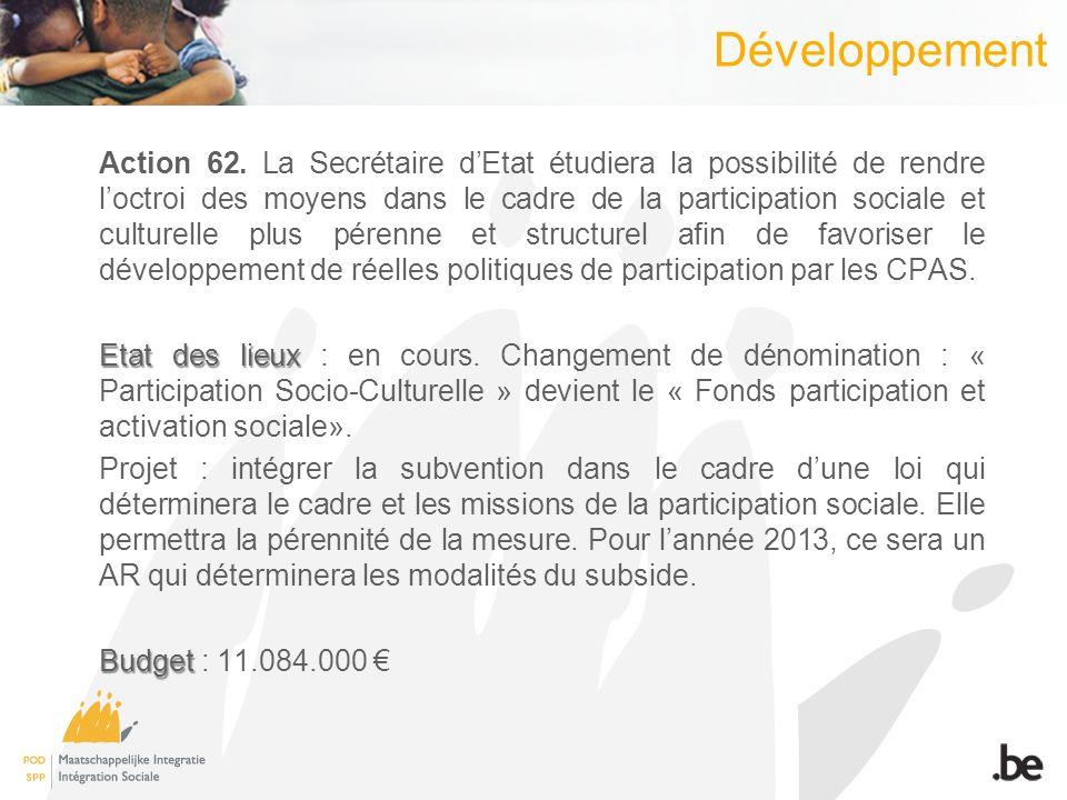 Développement Action 62.
