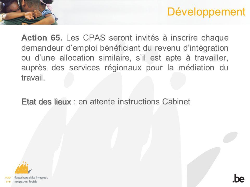 Développement Action 65.