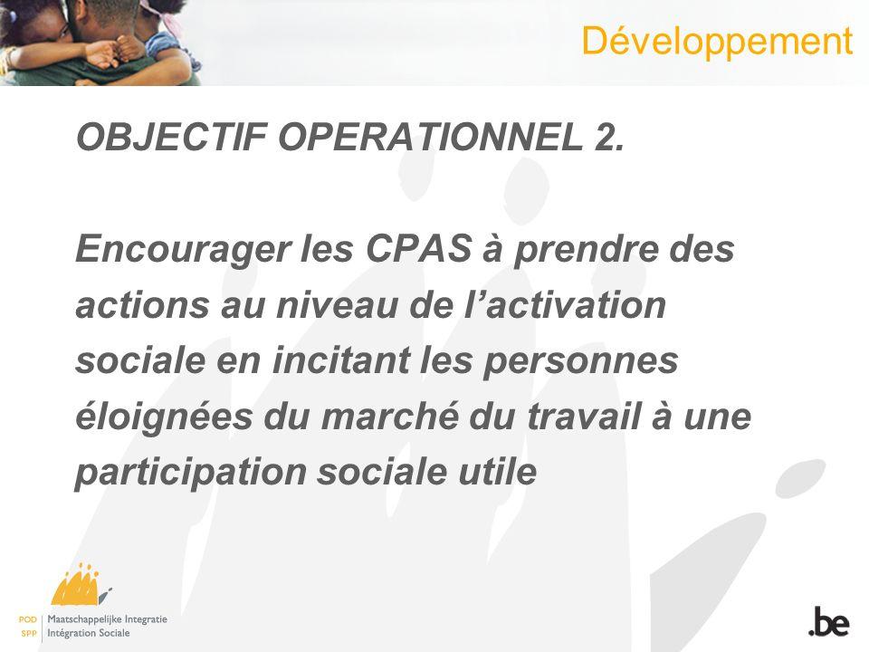 Développement OBJECTIF OPERATIONNEL 2.