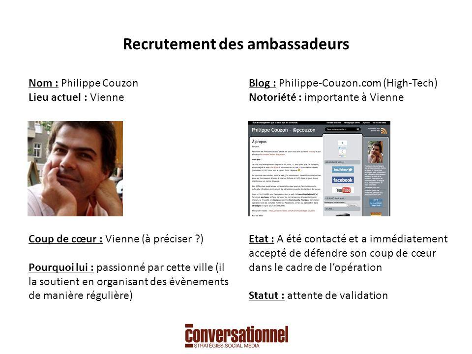 Recrutement des ambassadeurs Nom : Agnès H.