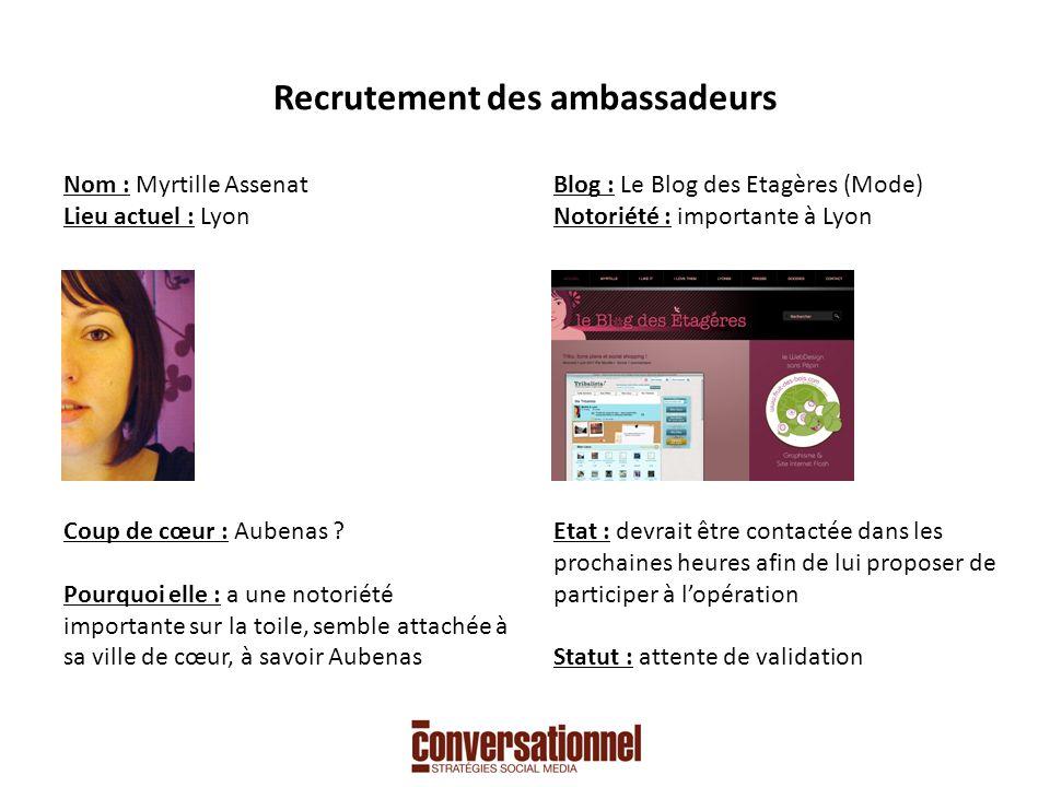 Recrutement des ambassadeurs Nom : Maxime Fulpin Lieu actuel : Lyon Coup de cœur : Lyon .
