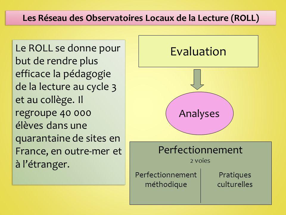 Le ROLL se donne pour but de rendre plus efficace la pédagogie de la lecture au cycle 3 et au collège.