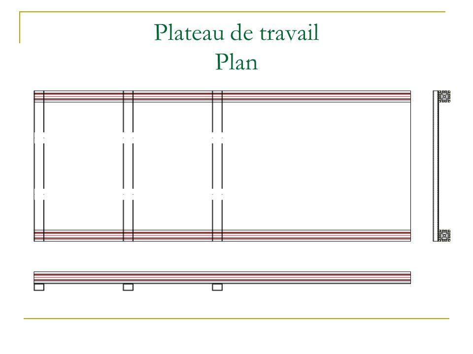 Plateau de travail Plan