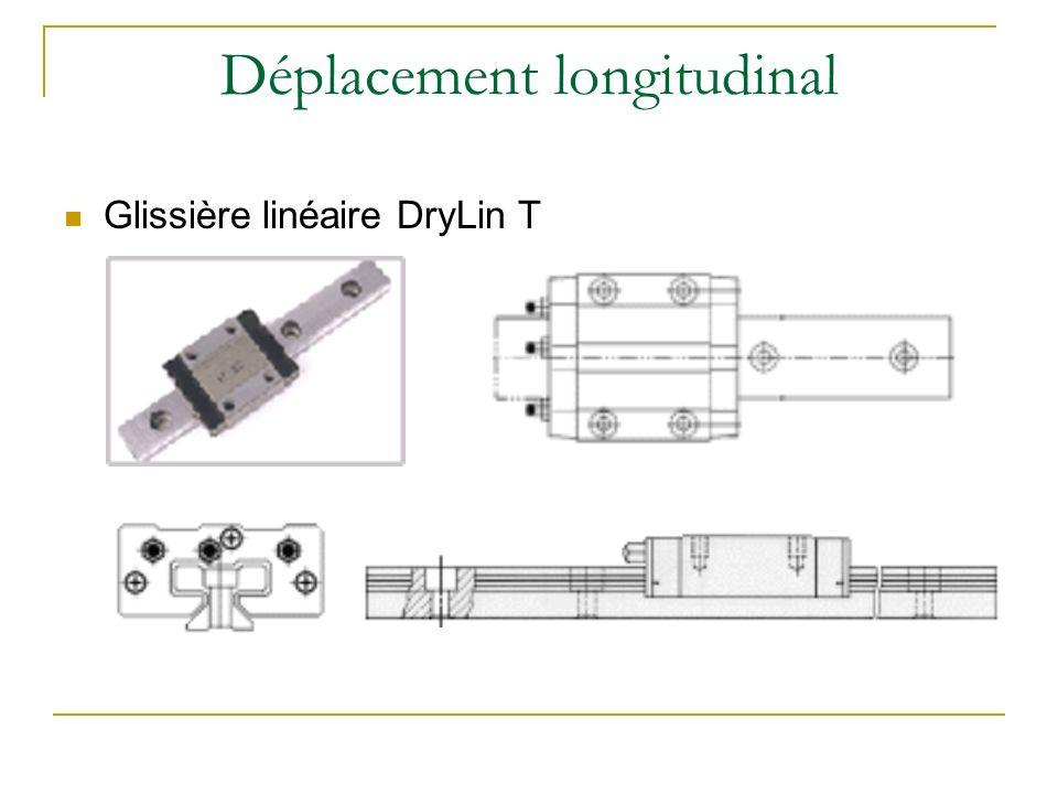 Déplacement longitudinal Glissière linéaire DryLin T