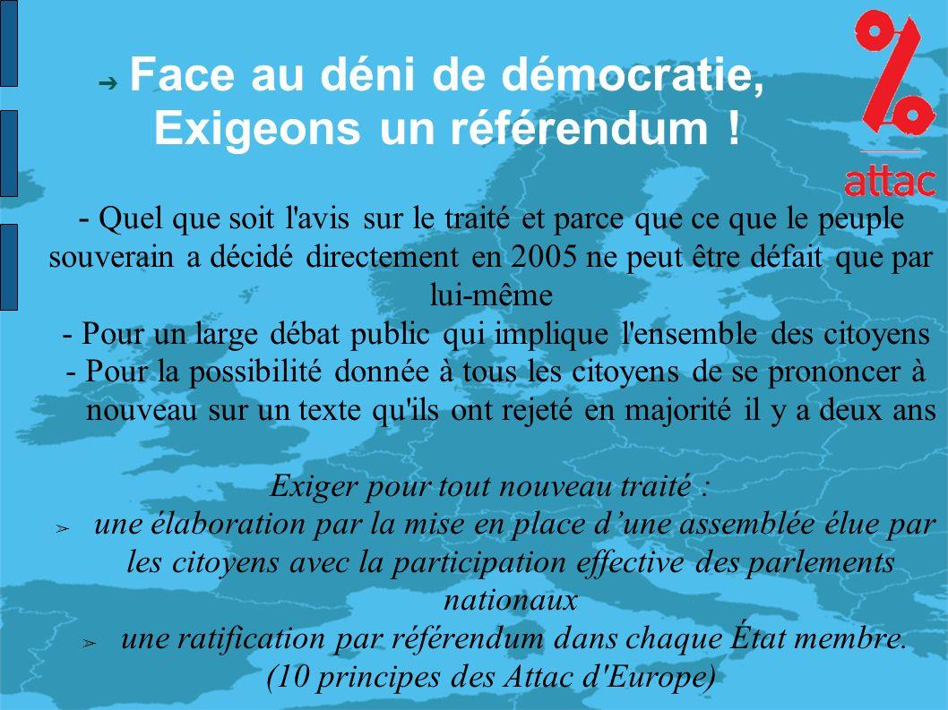 Face au déni de démocratie, Exigeons un référendum .