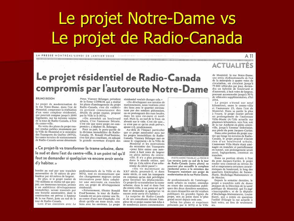 Le projet Notre-Dame vs Le projet de Radio-Canada