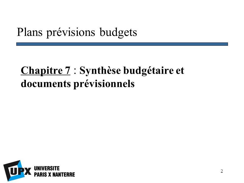 13 Section I Le budget de trésorerie 3.