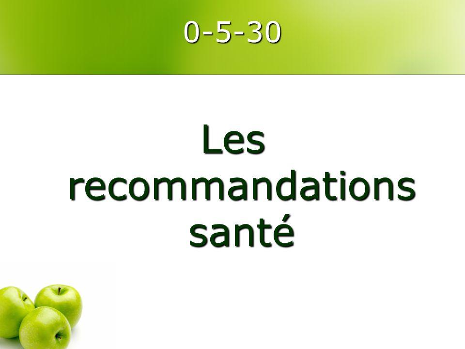 0-5-30 Les recommandations santé