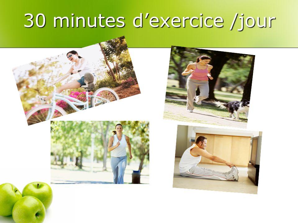 30 minutes dexercice /jour