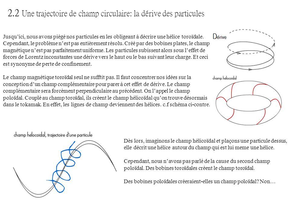 Jusquici, nous avons piégé nos particules en les obligeant à décrire une hélice toroïdale. Cependant, le problème nest pas entièrement résolu. Créé pa