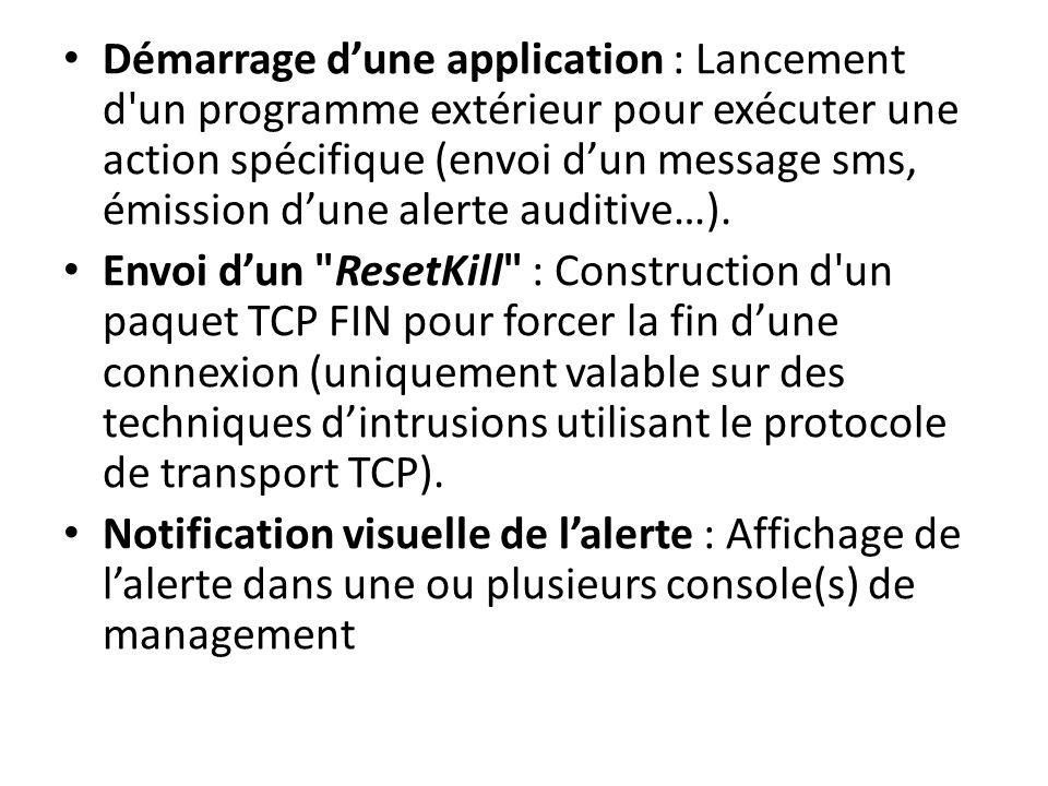 Envoi dun e-mail à un ou plusieurs utilisateurs : Envoi dun e-mail à une ou plusieurs boîtes au lettre pour notifier dune intrusion sérieuse Journalis