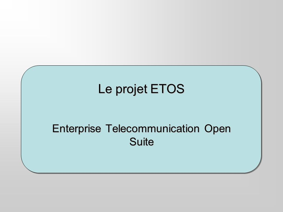 Projet ETOS – Benjamin Thominet - 2003 Les appliances: Le communication router cluster cest le routeur universel de communications.
