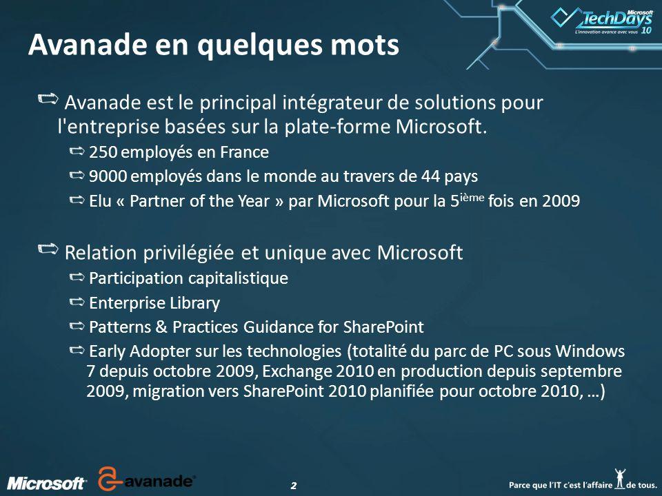 22 Avanade en quelques mots Avanade est le principal intégrateur de solutions pour l entreprise basées sur la plate-forme Microsoft.