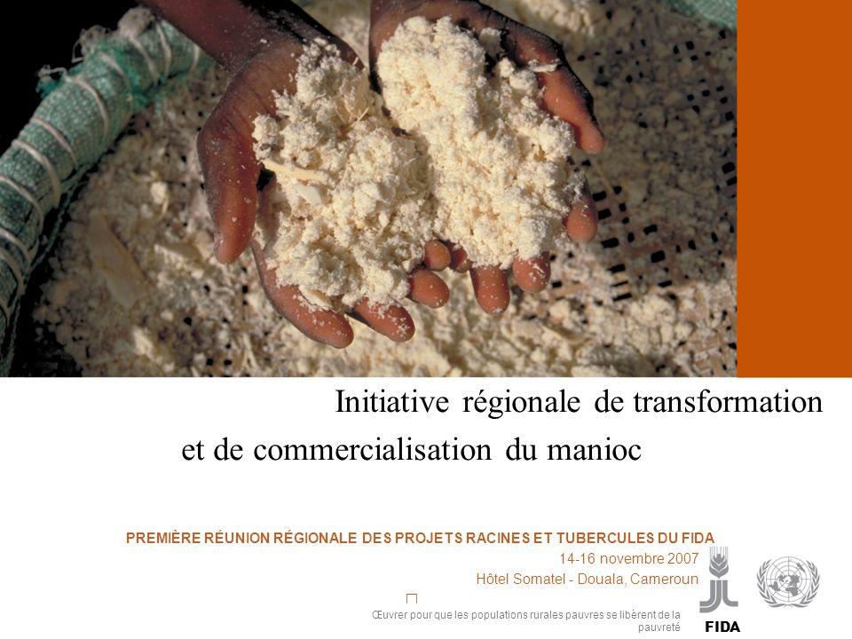 Cassava processing and marketing Initiative régionale de transformation et de commercialisation du manioc PP PREMIÈRE RÉUNION RÉGIONALE DES PROJETS RA