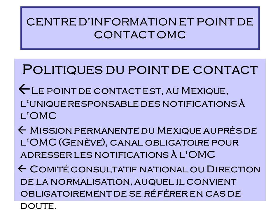 Rôle Le Centre d'information est un organe de liaison qui offre un appui documentaire national et international s'agissant des normes, de l'évaluation